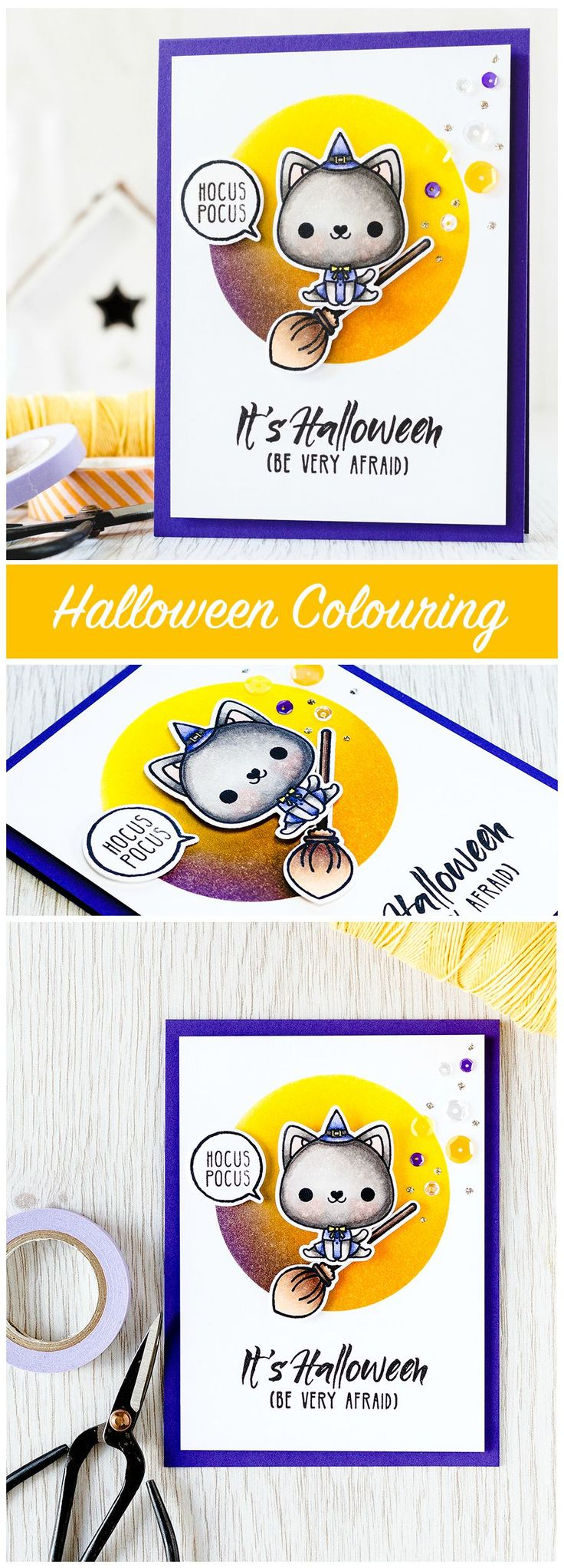 407 Best Halloween Images On Pinterest Halloween Cards Cards And
