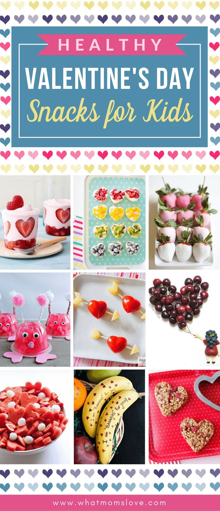 Healthy Valentines Day Snack Ideas for Kids | Easy and cute Valentines food ideas to make for lunch boxes or a school party - includes lots of sprinkles and fruit kabobs!