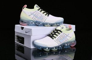 8ecef7c419ad Nike Air Vapormax Flyknit 2019 Light Purple Yellow White AJ6900-700 Women s  Men s Running Shoes