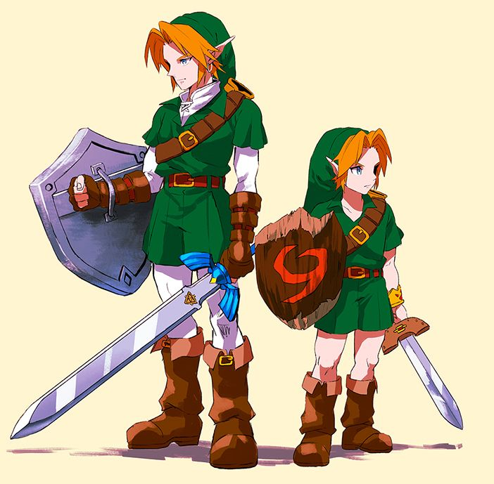 Adult Link and Young Link | The legend of Zelda | Legend ...