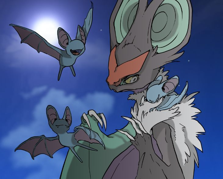 Noivern and Zubat by Reshiram6 on deviantART