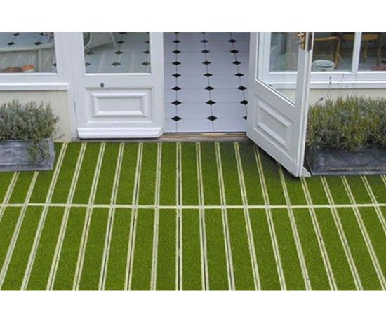 how to build decking on grass