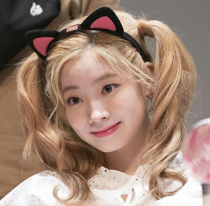Dahyun With Cat Ears Cat Ears Cat Girl Kpop Girl Groups