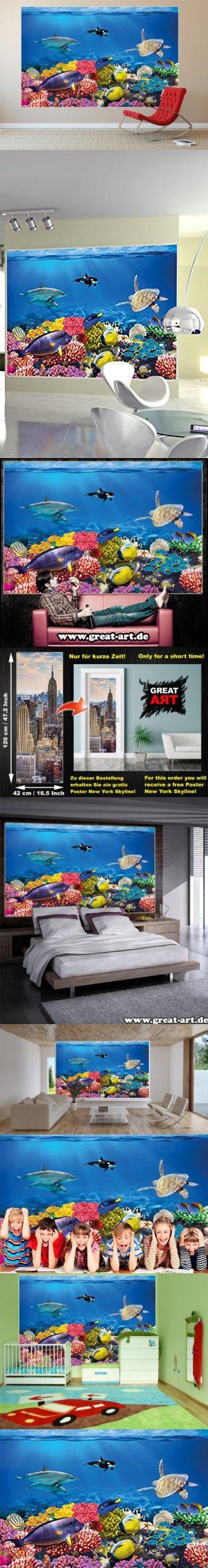 The 25 best sea murals ideas on pinterest ocean mural for Decor mural xxl 4 murs
