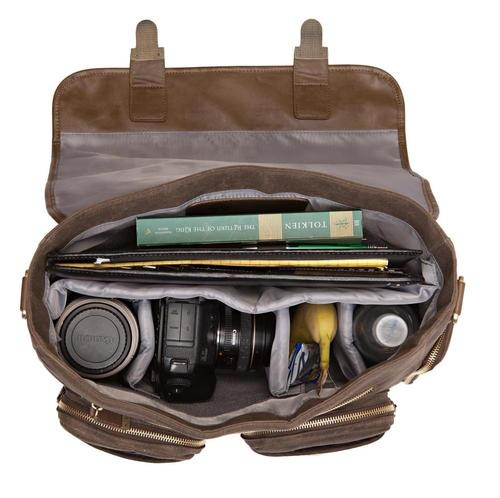"Kelly Moore Camera Bags for : 10"" lens, camera body, flash, phone, batteries + other accessories 3 lenses. flash, camera body Camera body + lense, extra lense, banana, water, magazine, notepad Laptop, camera + lense, baby diapers, bottle of water"