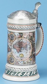 OLD WORLD MAP STEIN - Authentic Beer Steins from Germany - 1001BeerSteins.com