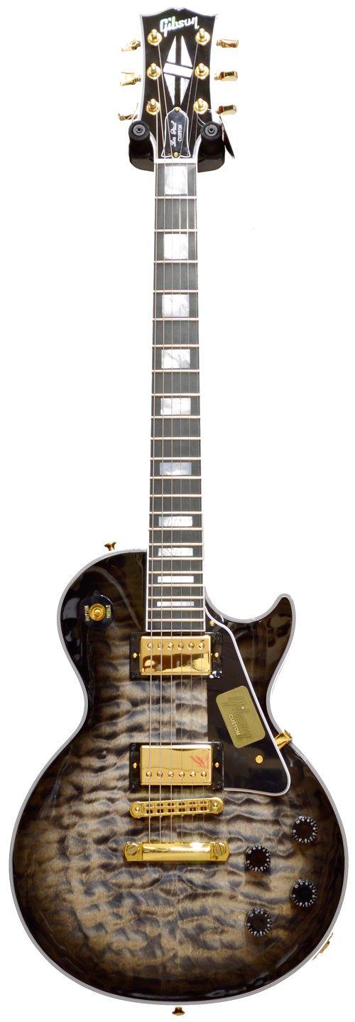Gibson Les Paul Custom Quilt Top Cobra Burst Limited Run 2014