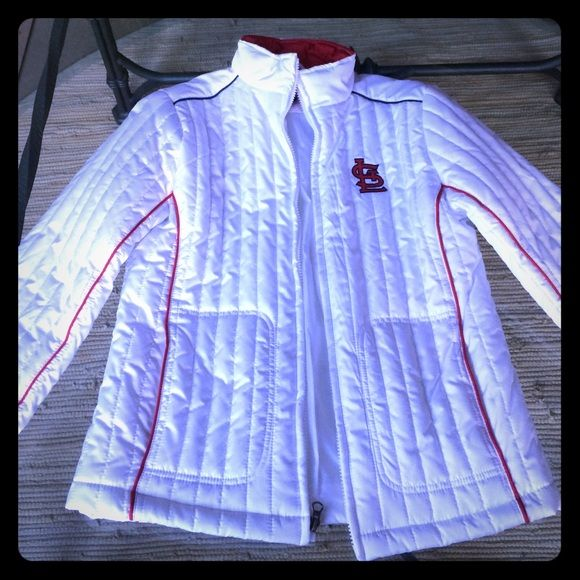 Genuine MLB Merchandise STL Cardinals jacket Never worn! Sports by Carl Banks womens team jacket. St. Louis Cardinals. 100% polyester. Machine washable. G-III Jackets & Coats