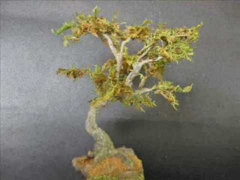 Love this tree tutorial ( 15 ståltrådar, bark av spackel)▶ Quicktips 3-Making Miniature Fantasy Tree - YouTube