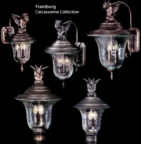 Framburg 8502, 8505, 8506, 8508 8509 Gargoyle Exterior Lighting from the Carcassonne Collection Eclectic Outdoor Lighting - Brand Lighting Discount Lighting - Call Brand Lighting