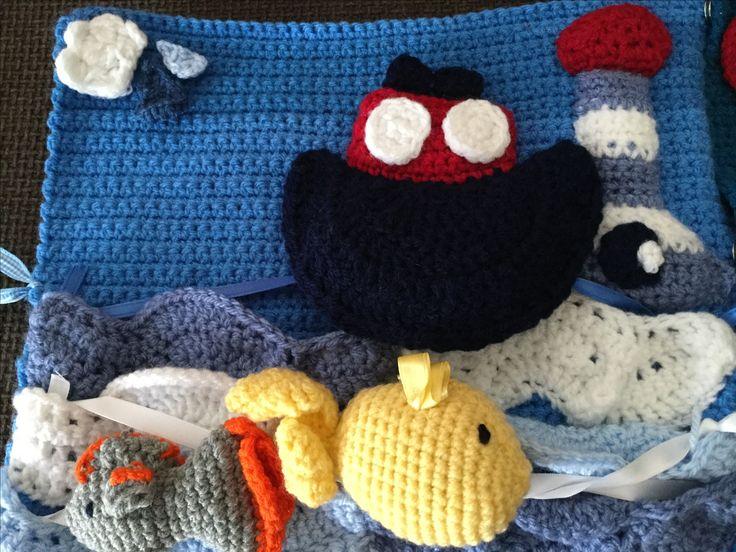 Crochet quiet book page