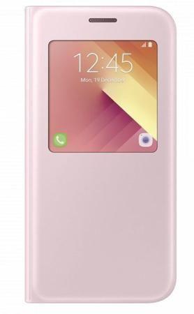 Чехол (флип-кейс) SAMSUNG S View Standing Cover, для Samsung Galaxy A7 (2017), розовый [ef-ca720ppegru]  — 3590 руб. —  Чехол для Samsung Galaxy A7 (2017) с окошком для просмотра различных уведомлений. Защищает смартфон от пыли, царапин и других внешних воздействий. Чехол не закрывает разъемы устройства и имеет вырезы для камеры и динамиков. Автоматическое включение/выключение экрана при закрытии/открытии крышки.