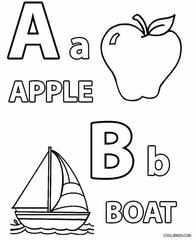 Printable Coloring Pages For Preschoolers Alphabet Printable Coloring Pages For Toddlers Abc Coloring Pages Toddler Coloring Book Letter A Coloring Pages