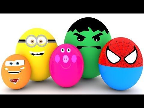 Learn Colors with Surprise Eggs for Children, Toddlers - Learn Sizes with Surprise Eggs - YouTube