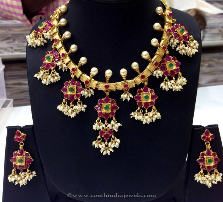 Imitation Guttapusalu Necklace, Gold Plated Guttapusalu Necklace, One Gram Gold Guttapusalu Necklace.