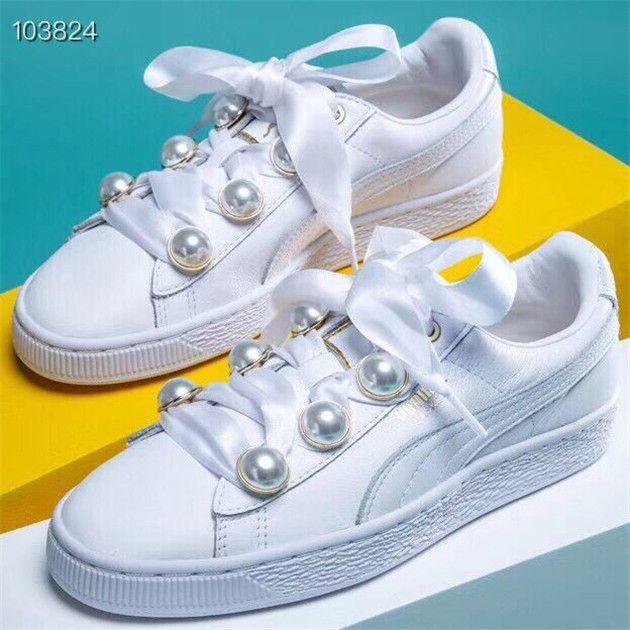 puma suede platform bling sneakers