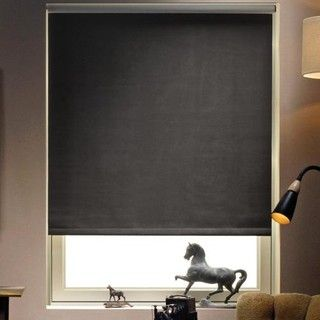 Great Blockout roller blind in bedroom for more space