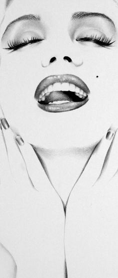 Marilyn Minimal Detail by *IleanaHunter on deviantART