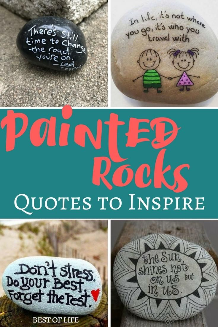 People are finding painted rock quotes all over the place ...