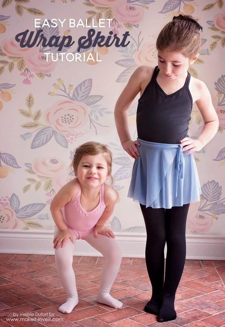 Ballettrock für Mädchen selber nähen ❤ mit Tutorial ❤ Ballett-Wickelrock ❤ sehr einfach ❤ für kleine Tanzmäuse ❤ DIY ❤ ✂ Jetzt Nähtalente.de besuchen ✂
