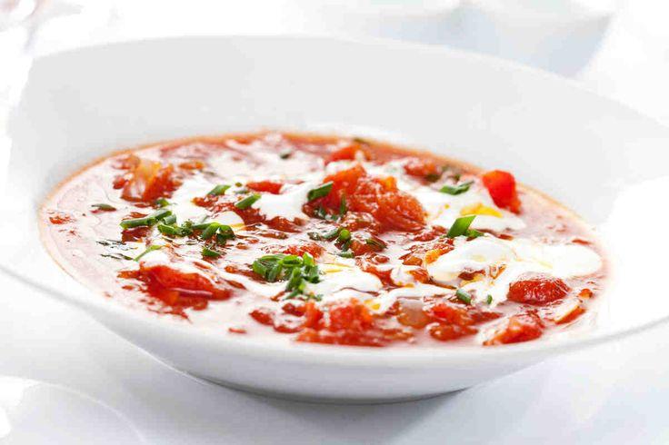 Klasyczna zupa z pieczonych pomidorów w oliwie tymiankowej. #pomidory #zupa #pomidorowa #obiad #smacznastrona #tesco #przepisy #przepis