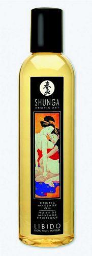 Shunga massage olie - Libido - 250 ml fra Shunga - Sexlegetøj leveret for blot 29 kr. - 4ushop.dk - Shunga massage olie er fremstillet af 100% naturlig koldpresset olier. Ideel til en afslappende massage, hvor denne naturlige olie giver en dejlig og blød kropsmassage. Efterlader huden lækker og blød og styrker denne med sit indhold af vitamin E.