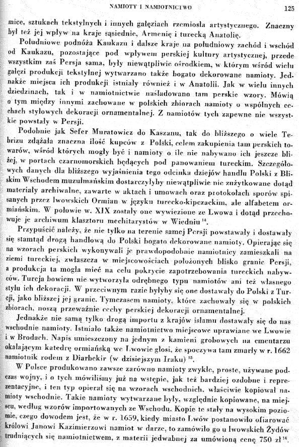 """11. Rozdział o namiotach - Z książki Tadeusza Mańkowskiego """"Polskie tkaniny i hafty XVI-XVIII wieku"""""""