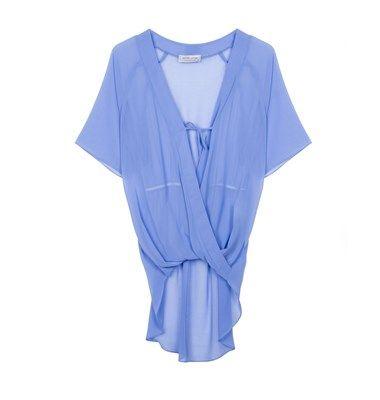 Wrap front chiffon blouse