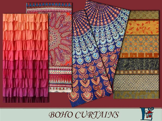 Sims 4 CC's - The Best: Boho style curtains by Evi