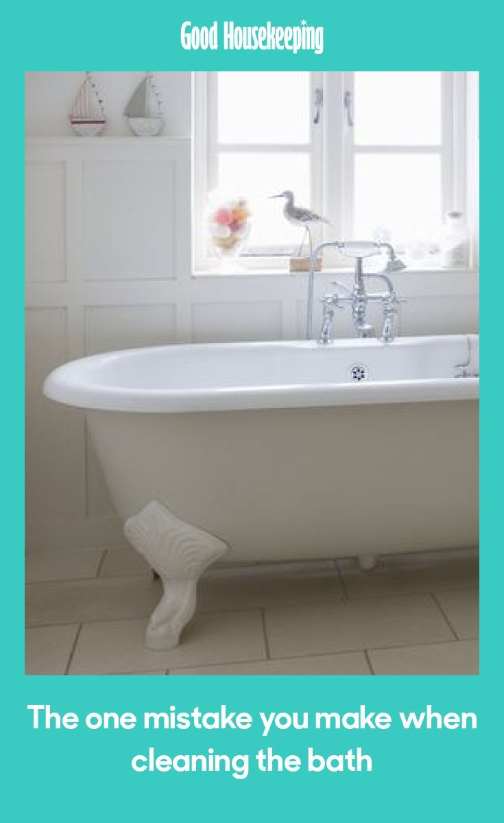 The One Mistake We Make When Cleaning The Bath With Images