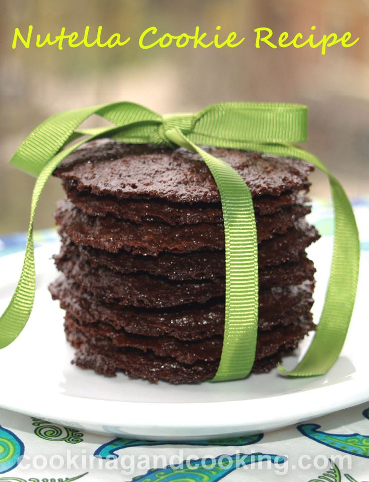 Nutella Cookie Recipe is a super easy cookie recipe with just 3 ingredients. All you need is Nutella, egg and flour.