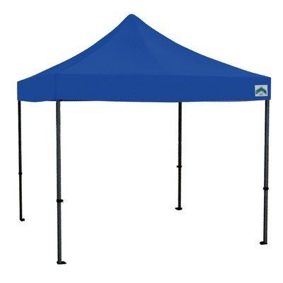 120' Monster Shelter in Blue by Caravan Canopy. $1095.14. 21003805020 Features: -Shelter.-Made of industrial grade powder coated aluminum and brackets.-With straight leg and pull pin slider.-Pull pin height adjuster.-Carry bag.-Full truss design for added stability. Color/Finish: -Color: Blue. Dimensions: -Dimensions: 132'' H x 120'' W x 120'' D. Warranty: -10 Year warranty.