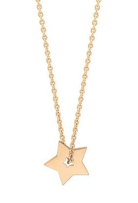 Collier Mini Etoile Cœur Ouvert en or rose Ginette NY - Lepage