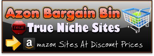 Azon bargain bin, Cheap discounted Amazon affiliate websites for sale.