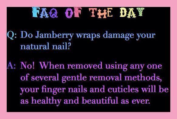 Do Jamberry nail wraps damage?  http://www.crystalsjamjems.jamberrynails.net/