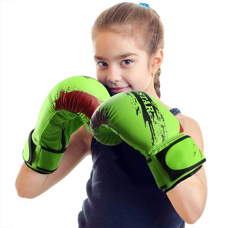 9 Color Child Kids Graffiti Boxing Gloves Fighting Kickboxing Gloves Training Gloves Punching Bag Gloves Guantes De Boxeo  #Affiliate
