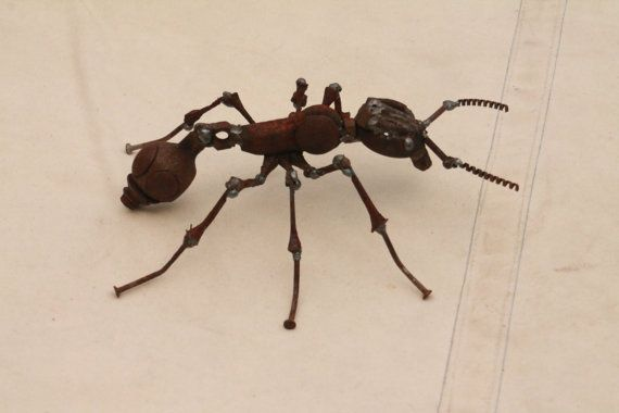 Hey, I found this really awesome Etsy listing at https://www.etsy.com/il-en/listing/232632082/scrap-metal-ant-insect-sculpture-common