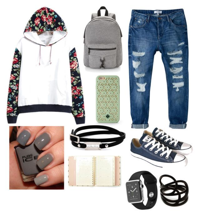 """""""Primsus #01"""" by oktaeprimsus on Polyvore featuring MANGO, Converse, Rebecca Minkoff, Tory Burch, McQ by Alexander McQueen, Repossi and Kate Spade"""