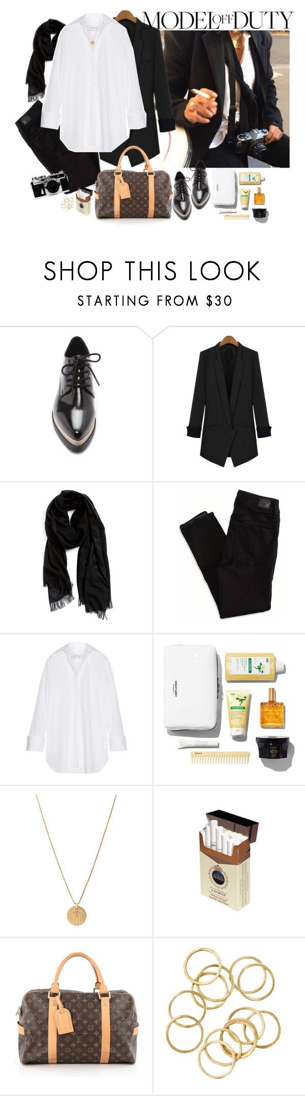 """""""Model Off Duty"""" by martaveira ❤ liked on Polyvore featuring Forever 21, Nordstrom, American Eagle Outfitters, Marques'Almeida, Nikon, Louis Vuitton and modeloffduty"""