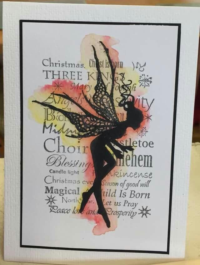 Fairy Silhouette Card Io Rainbow Card Christmas