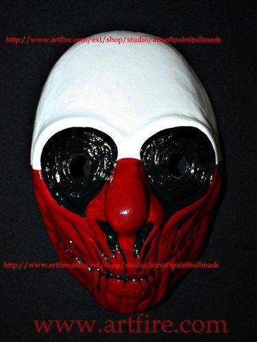 1:1 Scale Custom Payday Wolf mask halloween costume cosplay game MA153