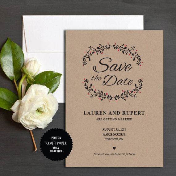 Save the Date Template Instant Download by TheprintableCo on Etsy