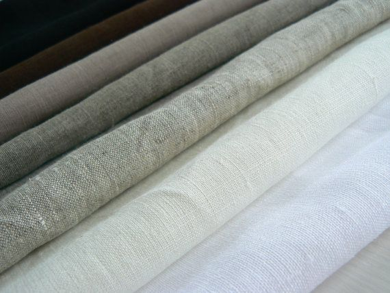 Linen fabric sample set, Pure linen, 100% natural, eco friendly, Can be sold by the yard