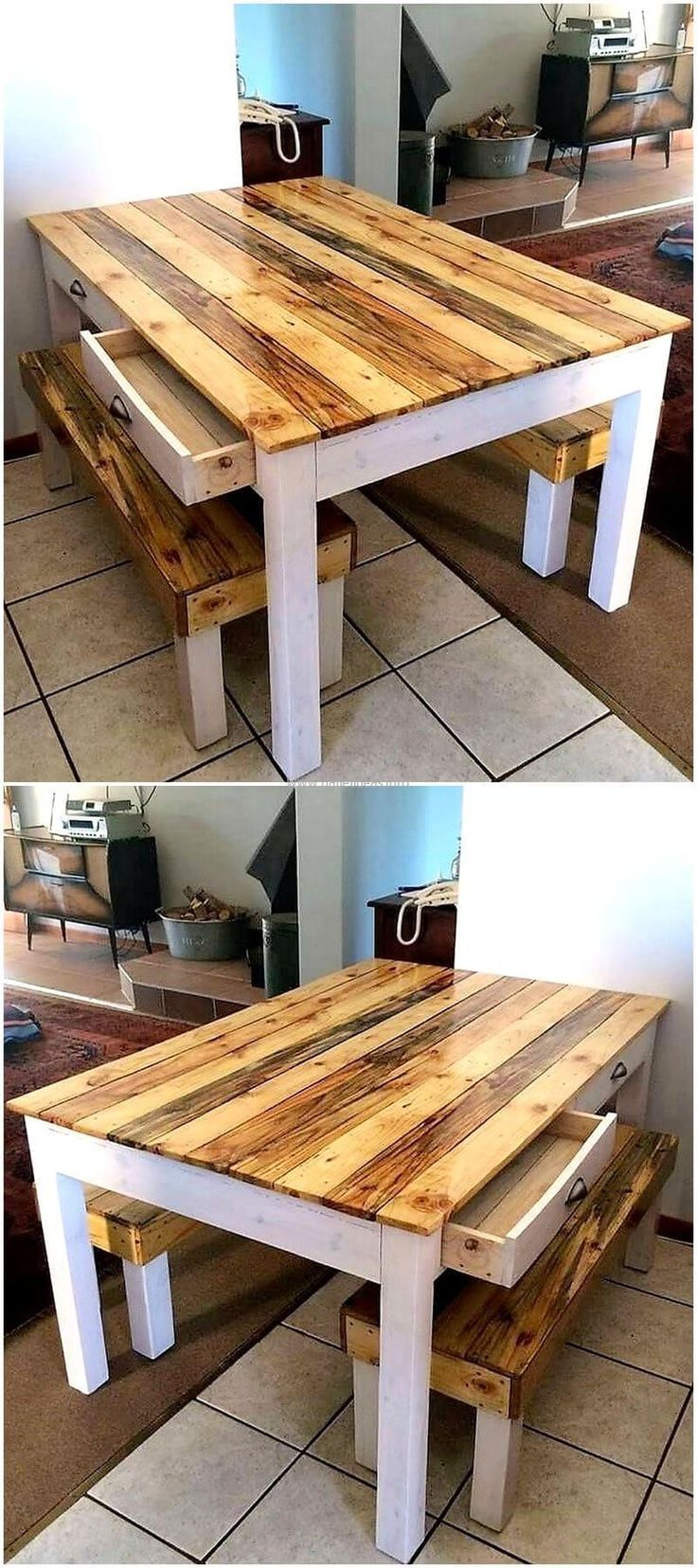 25 best ideas about pallet dining tables on pinterest