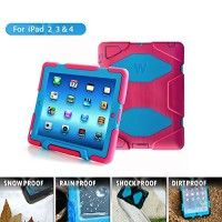 Ipad 4 & 3 & 2 Case; Gogoing Hot Newest Ipad 4 & 3 & 2 Non Toxic Eva Case Super 3d Protect Military-duty Case with Stand Holder Shell Cover Case for Apple Ipad 4 Ipad 3 Ipad 2 - Rainproof Sandproof Dust-proof Shockproof (Pink/Blue)   1. There are two layers of protective film on the screen protector. If The front has obvious lines across,please peel off the protective film on Read  more http://themarketplacespot.com/accessories-ios/ipad-4-gogoing-hot-newest-ipad-4-3-2-non-tox