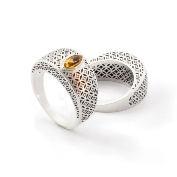 Citron ring. Geoff Mitchell design.