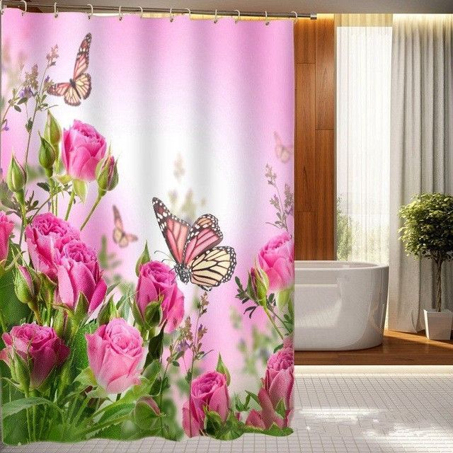 Web Image Gallery Bathroom Sets with Shower Curtain and Rugs