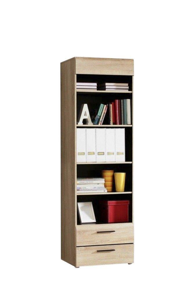 Bücherregal Jugendzimmer Cora passend zur Jugendzimmer - Serie Cora Bücherregal 5 Ablagefächer und 2 Schubkästen  Metallscharniere Schubkästen auf... #kinder #jugendzimmer #buecherregal