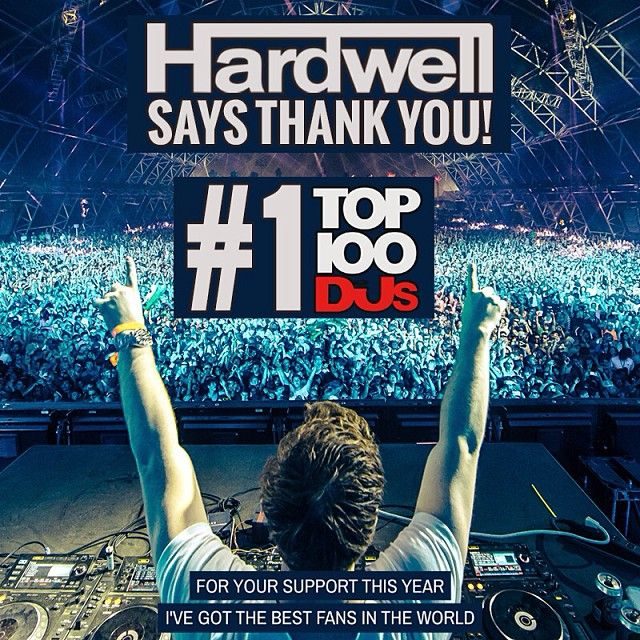 Hardwell thanks his fans for voting him the #1 DJ according to DJMag. #mrk634