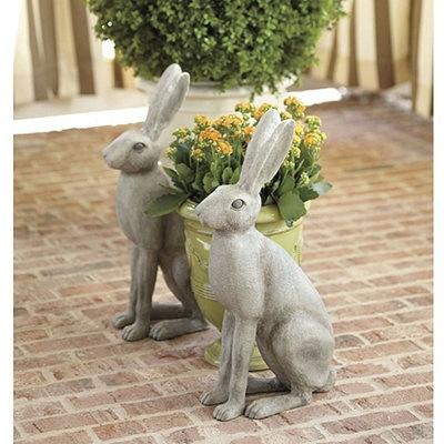 bunny rabbits ballard designs garden statues garden sculptures yard